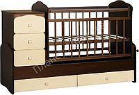 Кровать-трансформер СКВ 9, цвет венге-бежевая