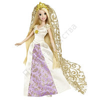 Кукла Рапунцель в свадебном платье с аксессуарами