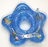 Круг в форме звездочки, с погремушкой, для купания новорожденных детей