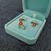 Комплект детский с бриллиантом и эмалью