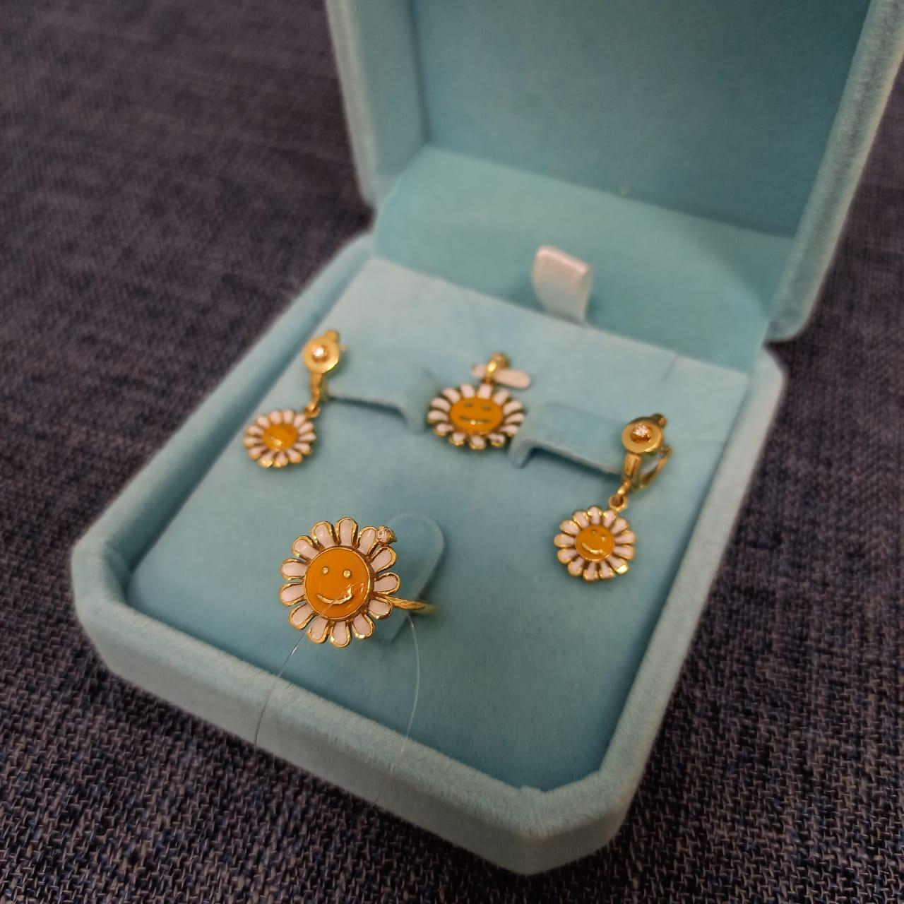 Комплект детский с бриллиантами «Roberto Bravo» - фото 1