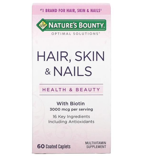 Nature's Bounty, Hair, Skin & Nails, 60 капсул, покрытых оболочкой