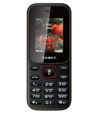 Мобильный телефон Texet TM-128 черно-красный