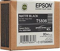 Картридж струйный Epson C13T580800 MatteBlack (Матовый Черный) для Epson Stylus Pro 3800 Ink (80ml)