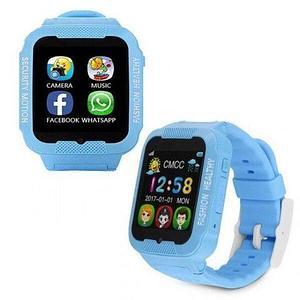 Умные детские часы-телефон с камерой, GPS-трекером и сенсорным экраном Smart Watch K3 (Голубой)
