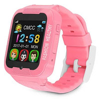 Умные детские часы-телефон с камерой, GPS-трекером и сенсорным экраном Smart Watch K3 (Розовый)