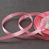 Лента атласная, 6 мм × 23 ± 1 м, цвет жемчужно-розовый №41