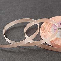 Лента атласная, 6 мм × 23 ± 1 м, цвет нежно-персиковый №07