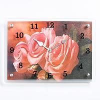 """Часы настенные, серия: Цветы, """"Три розы"""", 25х35 см"""