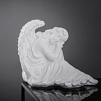 """Фигура """"Ангел девушка сидя"""" большая, белый 28х45х37см"""