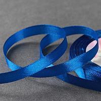 Лента атласная, 10 мм × 23 ± 1 м, цвет синий №40