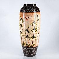 """Ваза напольная """"Руслана"""", бамбук, цвет коричневый, 82 см, микс, керамика"""