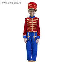 Карнавальный костюм «Гусар», кивер, сюртук, штаны, рост 110 см