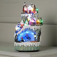 """Фигура световая """"Новогодний каток"""" 25х14 см, 20 LED, USB, музыка, АА*3, динамика, RGB"""