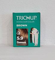 Краска для волос Тричап на основе хны Brown (коричневый) 6 пак. по 10гр.
