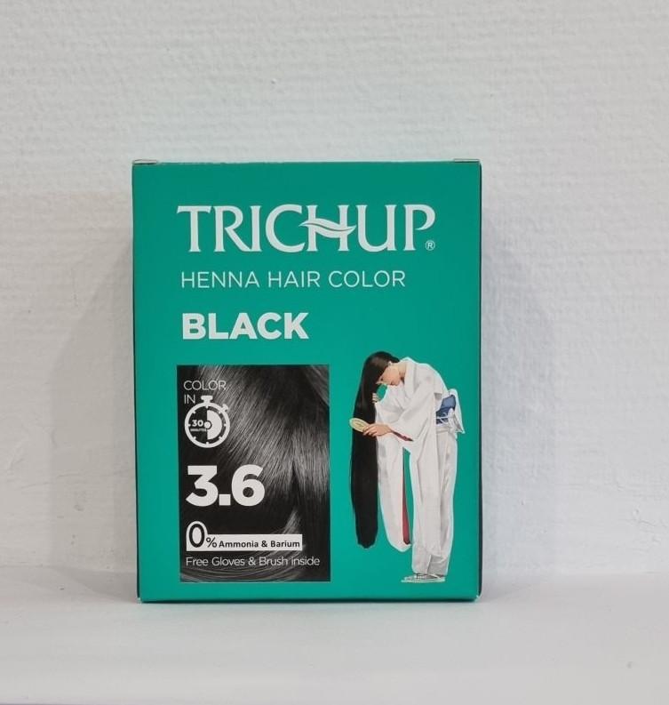 Краска для волос Тричап на основе хны Black (черный)  6 пак. по 10гр.