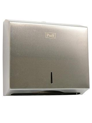 Диспенсер для бумажных полотенец Puff-5610, хром мат, антивандальный с ключом 290х270х110 ТЗС