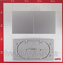Atlas Design розетка 2я с заземлением, со шторками, со сдвижной крышкой , В СБОРЕ ,скрытая установка алюминий, фото 3