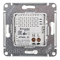 Atlas Design USB розетка А+А, 5В/2,1А,2*5В/1,05А, МЕХАНИЗМ,  скрытая установка алюминий, фото 3