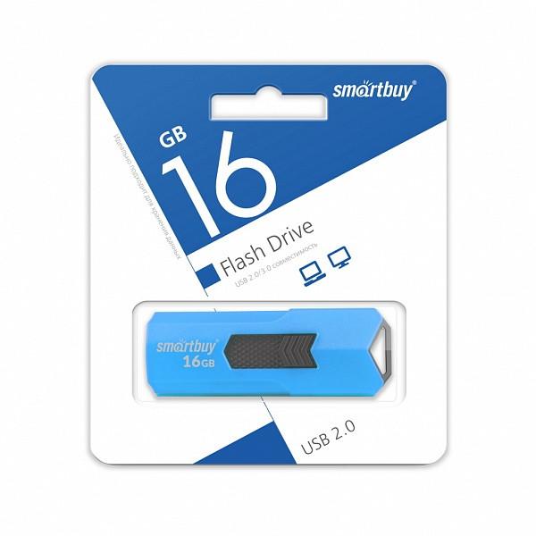 USB накопитель Smartbuy 16GB STREAM Blue