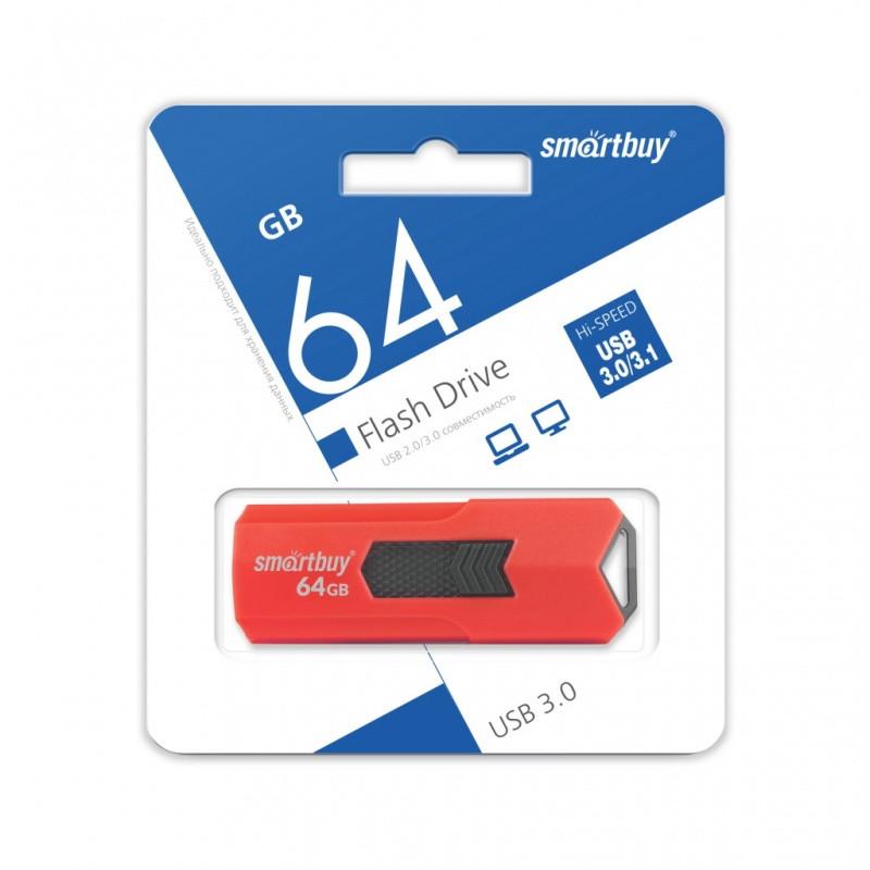 USB 3.0 накопитель Smartbuy 64GB STREAM Red