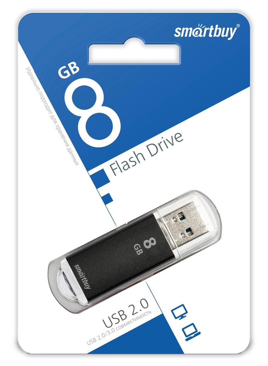 USB накопитель Smartbuy 8GB V-Cut Black
