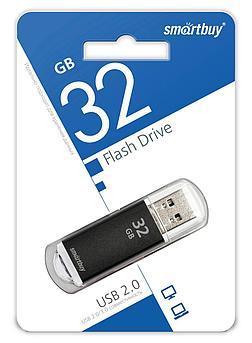 USB накопитель Smartbuy 32GB V-Cut Black