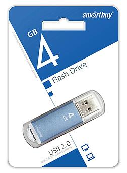 USB накопитель Smartbuy 4GB V-Cut Blue