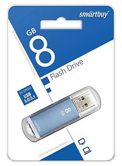 USB накопитель Smartbuy 8GB V-Cut Blue