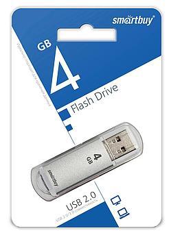 USB накопитель Smartbuy 4GB V-Cut Silver