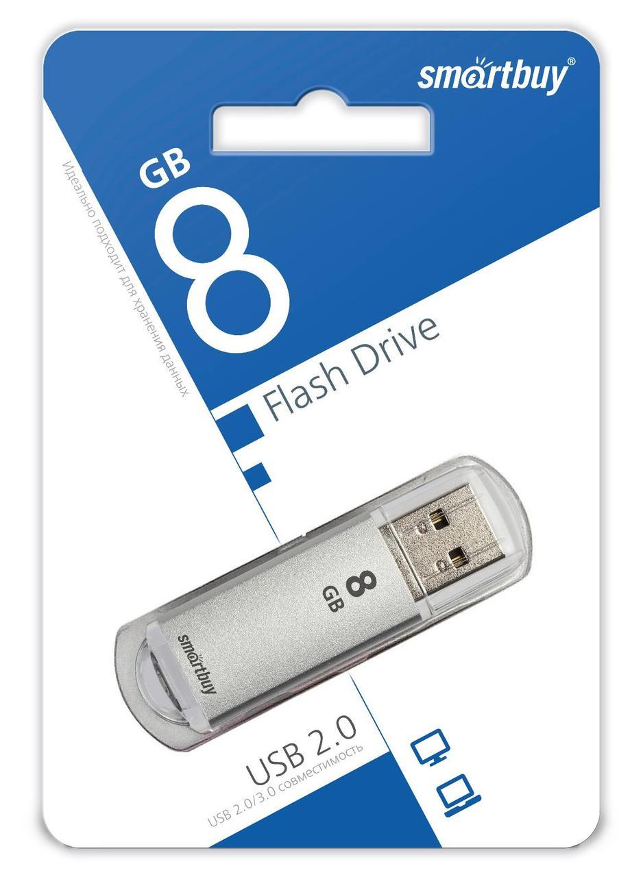 USB накопитель Smartbuy 8GB V-Cut Silver