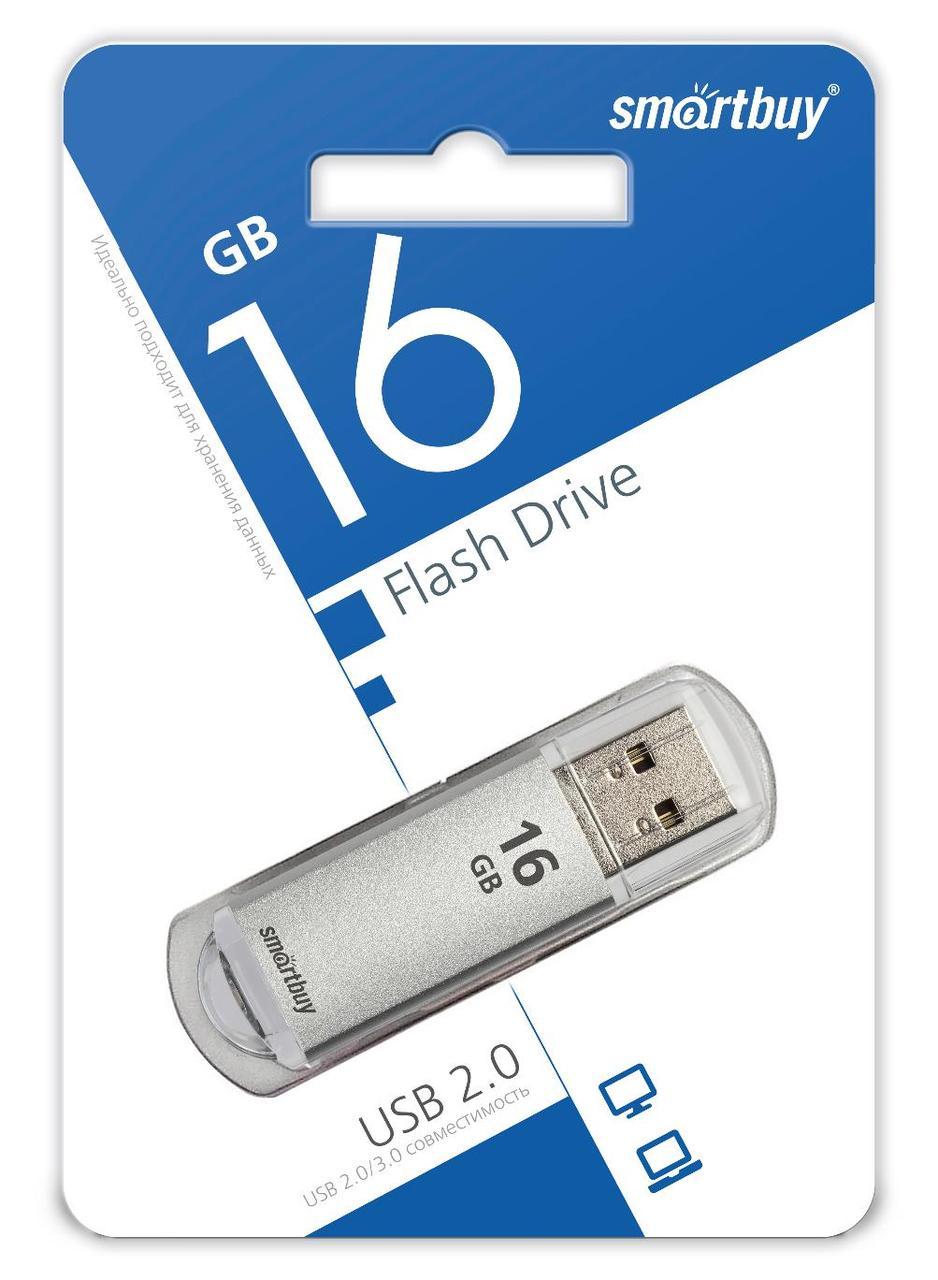 USB накопитель Smartbuy 16GB V-Cut Silver