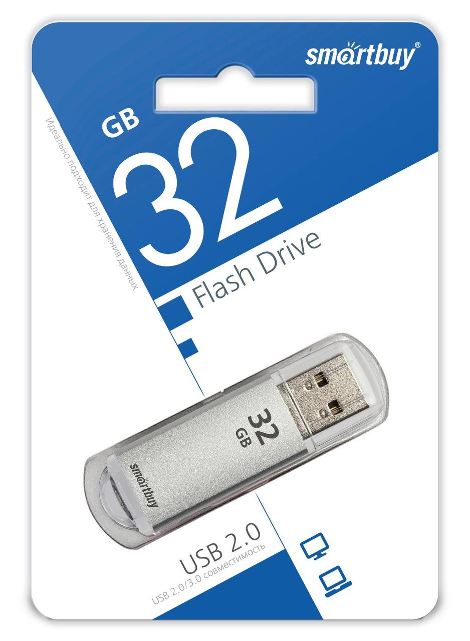 USB накопитель Smartbuy 32GB V-Cut Silver