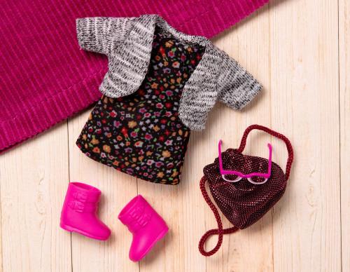 Набор одежды для кукол LORI Платье с цветами (LO30021Z)