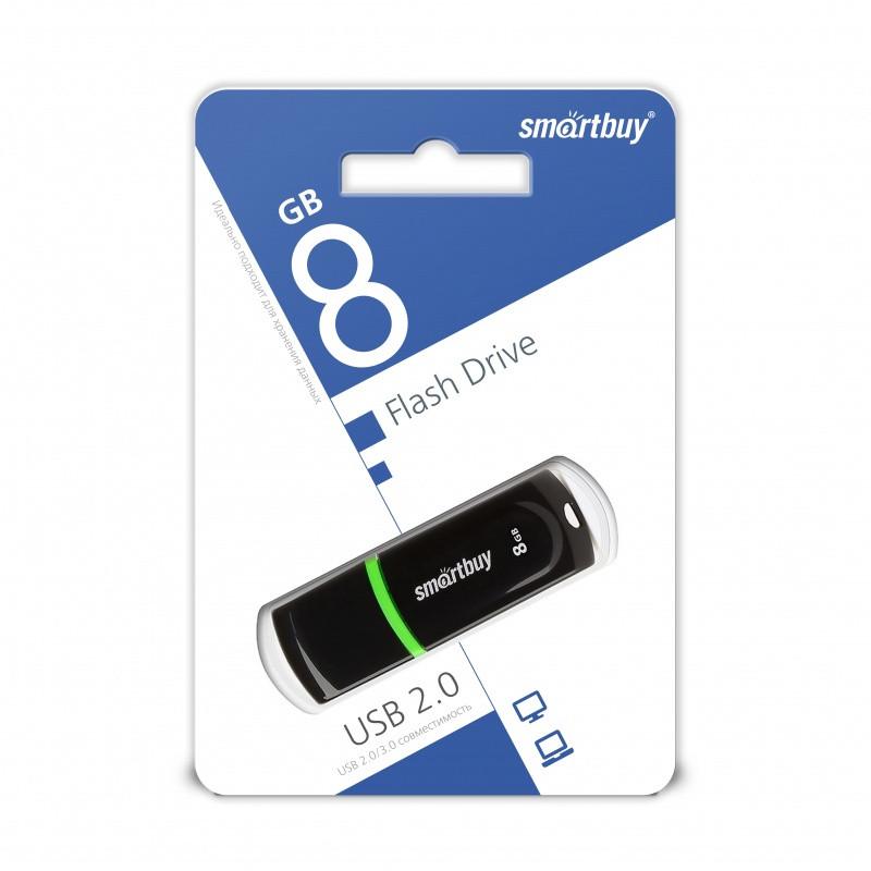 USB-накопитель Smartbuy 8GB Paean series Black