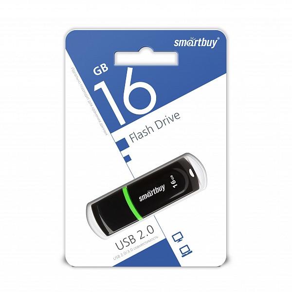 USB-накопитель Smartbuy 16GB Paean series Black