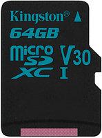 Kingston Карта памяти MicroSD 64GB Class 10 U3 Kingston SDCG2/64GBSP адаптер