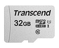 Transcend Карта памяти MicroSD 32GB Class 10 U1 Transcend TS32GUSD300S без адаптера