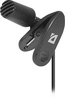 Defender Микрофон Defender MIC-109 черный, на прищепке, 1,8 м