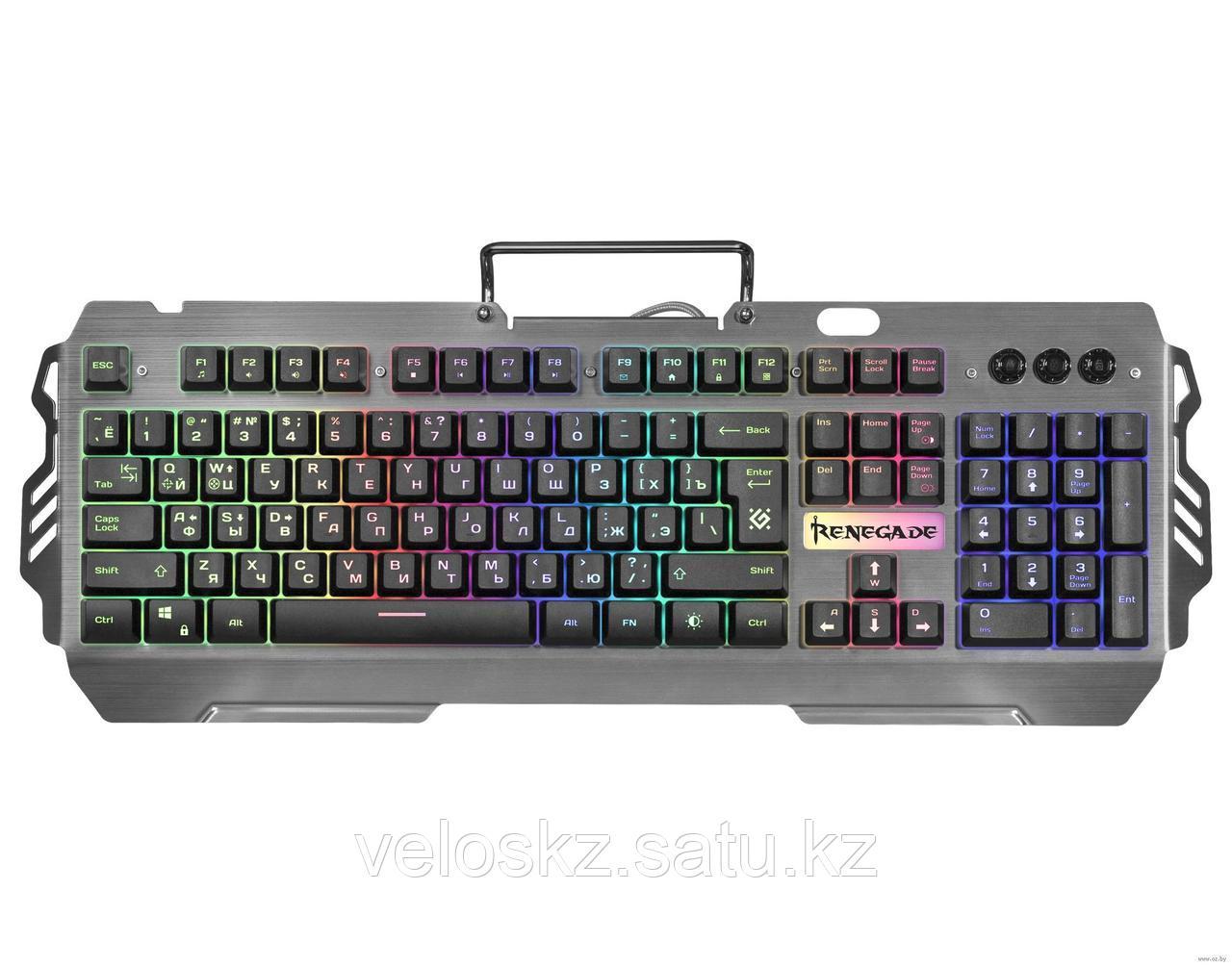Defender Клавиатура проводная Defender Renegade GK-640DL RU,RGB подсветка, 9 режимов