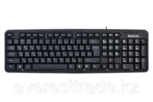 Defender Клавиатура проводная Defender Element HB-520 KZ черный