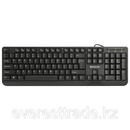 Defender Клавиатура проводная Defender OfficeMate HM-710 KZ черный