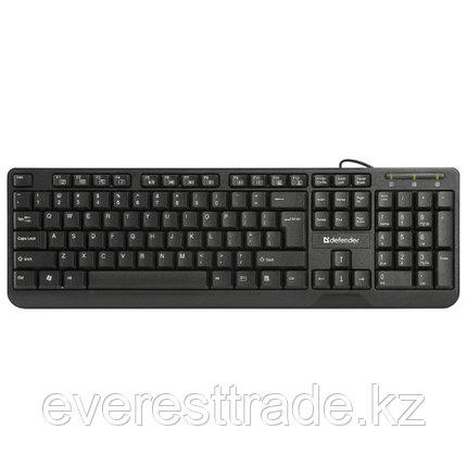 Defender Клавиатура проводная Defender OfficeMate HM-710 KZ черный, фото 2