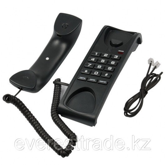 RITMIX Телефон проводной Ritmix RT-007 черный