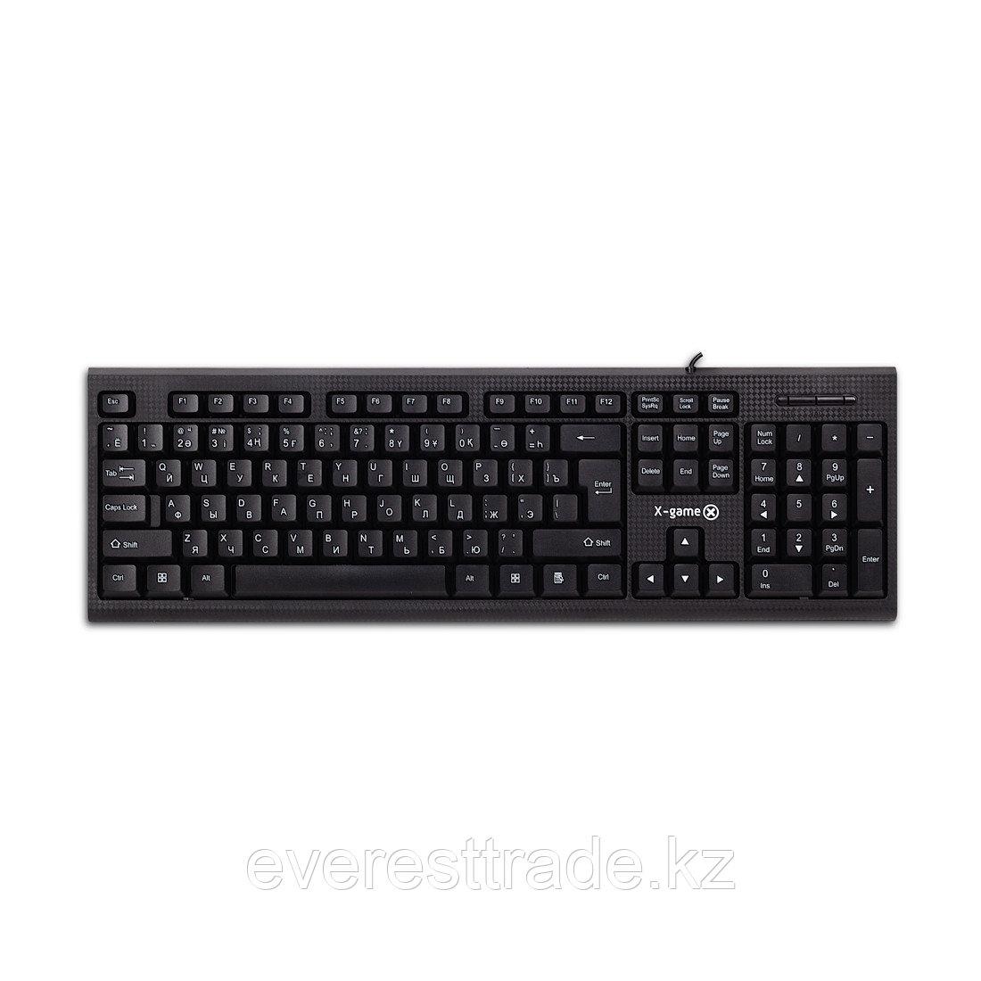 X-Game Клавиатура проводная X-Game XK-100UB, USB, 104 клавиш Анг/Рус/Каз