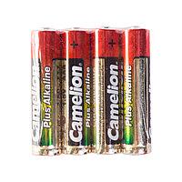 Camelion Батарейки CAMELION, ААА, LR03-SP4, Plus Alkaline 4шт,  в плёнке