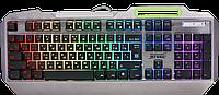 Defender Клавиатура проводная Defender Stainless steel GK-150DL, ENG/RUS, 9 режимов подсветки