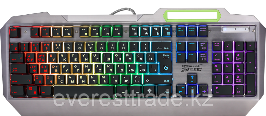 Defender Клавиатура проводная Defender Stainless steel GK-150DL, ENG/RUS, 9 режимов подсветки, фото 2