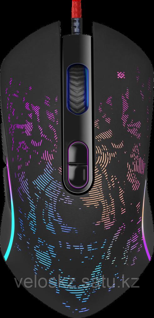 Defender Мышь проводная Defender Witcher GM-990 RGB,7кнопок,3200dpi