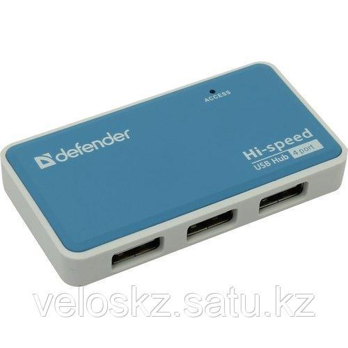 Defender Разветвитель Defender Quadro Power (БП в комплекте) USB 2.0 4-порта